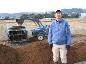 s160107金田さんと堆肥散布機材一式