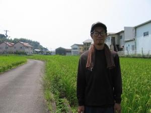 S180719コシの田んぼと田中さん