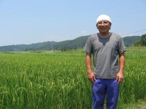 S180719コシの田んぼと山本さん